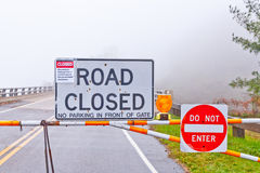 Road closed sign royalty free stock photo