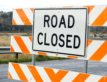 Road closed sign Stock Photography