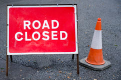 Road closed sign Royalty Free Stock Images