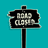 Road Closed sign Vector Illustration Stock Photos