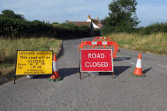 Road closed signs, Stock Image