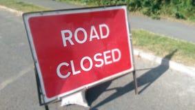 Road closed. UK sign royalty free stock image