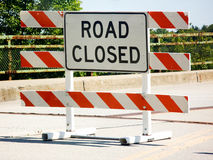 Road closure royalty free stock image