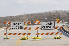 Road Closure Stock Photography
