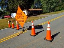 Road Closure royalty free stock photos