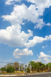 The road with cloud and blue sky Royalty Free Stock Image