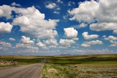 Road and clouds Royalty Free Stock Photography