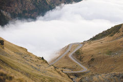 ROad into Clouds Stock Image