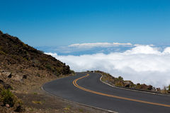 Road in the Clouds Stock Images