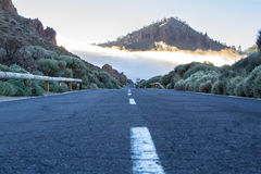 Road in the clouds Royalty Free Stock Photo