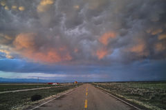 Road and the cloudscape Royalty Free Stock Photography