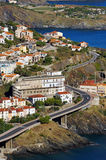 Road on coast of the Mediterranean sea Royalty Free Stock Photos