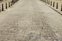 Road from paving stones Royalty Free Stock Image