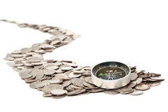The road from coins Stock Photography