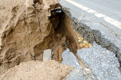 Road collapses Royalty Free Stock Photos