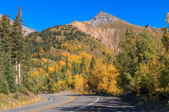 Road Through Colorado Fall Landscape Royalty Free Stock Photography