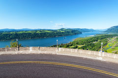 Road and Columbia River View Royalty Free Stock Images