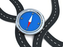 Road with compass Royalty Free Stock Photo