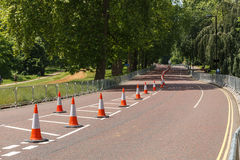 Road. The road for competitions. Hyde Park royalty free stock photo