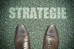 Road concept -strategie Stock Photos