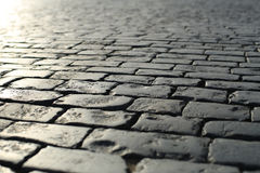 Road is concrete tiles Royalty Free Stock Photo