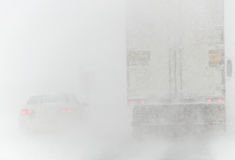 Road Conditions - Nor`easter Winter Storm 3-14-2017 Stock Photos