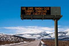 Road Conditions Sign Stock Image
