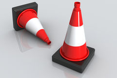 Road cone Royalty Free Stock Photography