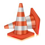 Road Cone. Illustration of road cone on white background Royalty Free Stock Images