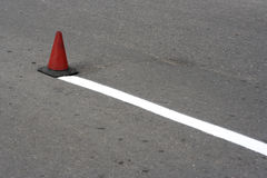 Road cone. The road in construction-cone Stock Photo