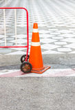 Road cone, Traffic cone, Road sign Royalty Free Stock Images