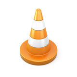 Road cone on a white Stock Photography