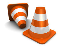 Road cones Stock Image