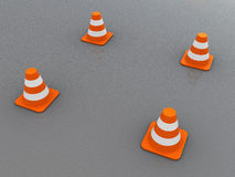 Road cones Stock Photo