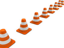 Road cones Royalty Free Stock Images