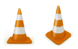 Road cones Royalty Free Stock Photos