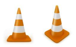 Road cones Royalty Free Stock Photos