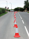 Road cones. Used to seal of traffic lane royalty free stock image
