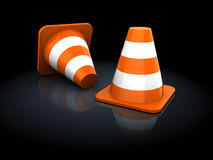 Road cones Stock Images