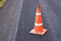 Road cones. Road construction cones on an asphalt surface Royalty Free Stock Photography