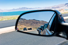 Road congestion reflection Stock Photos