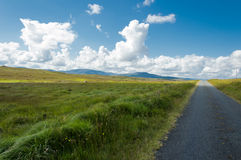 Road of Connemara. Connemara is a district in the west of Ireland of which the boundaries are not well defined. Lake, rivers, green mountains and great panorama Royalty Free Stock Image