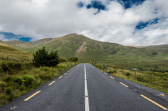 Road on Connemara mountains. Connemara is a district in the west of Ireland of which the boundaries are not well defined Royalty Free Stock Image