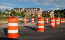 Road Construction. In Germantown, Maryland USA stock photo