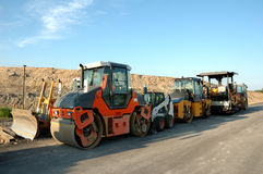 Road construction. Equipment for Royalty Free Stock Images