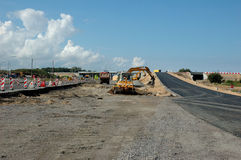Road construction. Equipment for Stock Images