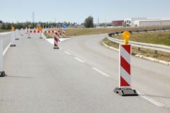 Road construction Royalty Free Stock Images