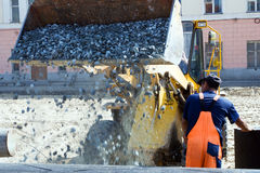 Road construction. Royalty Free Stock Image