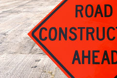 Road Construction Ahead stock image