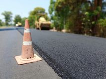 Road construction. Asphalt road construction in Thailand, blurred images royalty free stock images